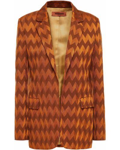 Открытый шерстяной пиджак с карманами Missoni