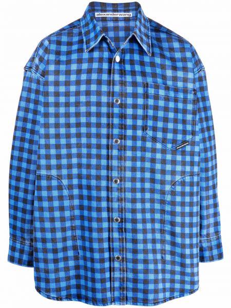 Koszula z długimi rękawami - niebieska Alexander Wang