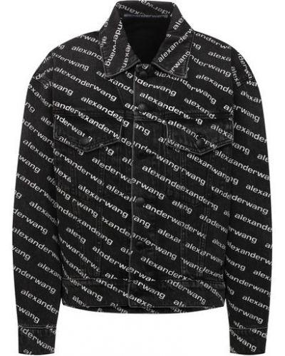 Хлопковая джинсовая куртка - серая Denim X Alexander Wang