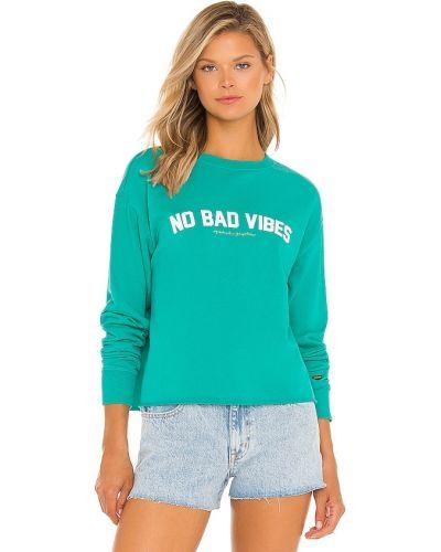 Zielony pulower bawełniany Spiritual Gangster