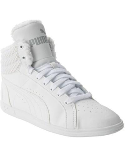 Futro materiałowy - biały Puma
