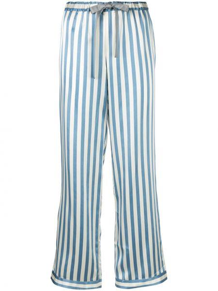 Шелковые брюки - синие Morgan Lane