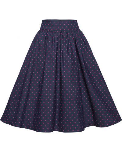Spódnica rozkloszowana elegancka - niebieska Kasia Miciak Design