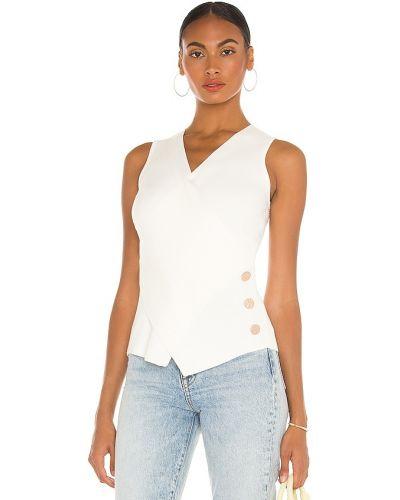 Biała koszulka z wiskozy Milly