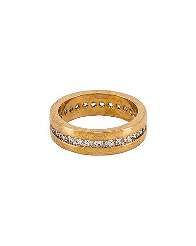 Srebro pierścień metal pozłacany ze skałami Vanessa Mooney