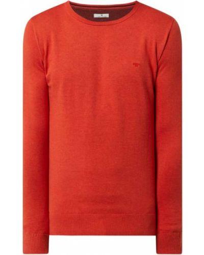 Prążkowany pomarańczowy sweter bawełniany Tom Tailor