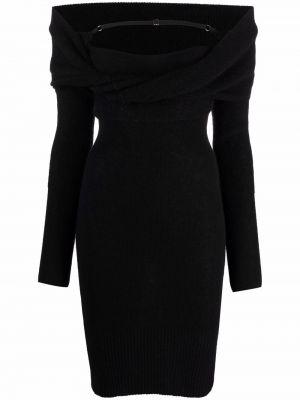 Платье макси с длинными рукавами - черное Jacquemus