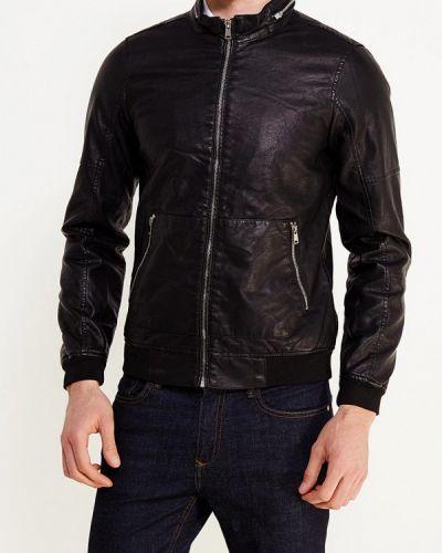 Кожаная куртка черная осенняя Piazza Italia