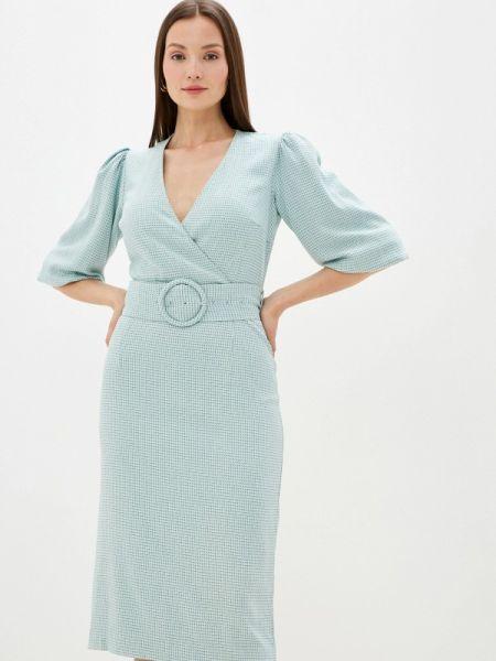 Платье бирюзовый прямое Akhmadullina Dreams