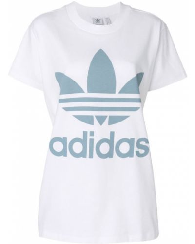 Свободная футболка с логотипом прямая оверсайз Adidas
