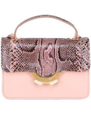 Różowa torebka mini skórzana Patricia Al'kary