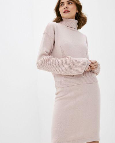 Костюмный розовый вязаный костюм Annborg