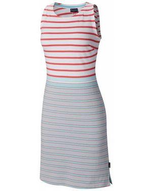 Серое вязаное летнее платье без рукавов Columbia