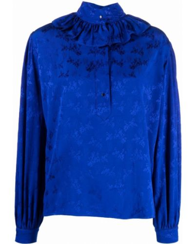 Блузка из вискозы - синяя Roseanna