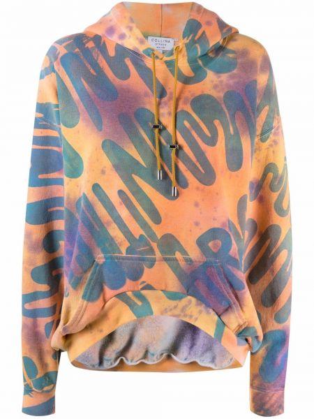 Bluza z nadrukiem z printem - pomarańczowa Collina Strada