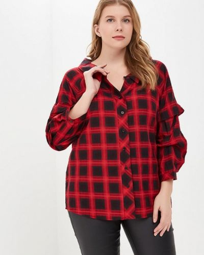 Красная блузка осенняя Svesta