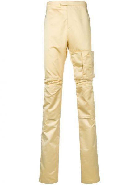 Żółte spodnie Raf Simons