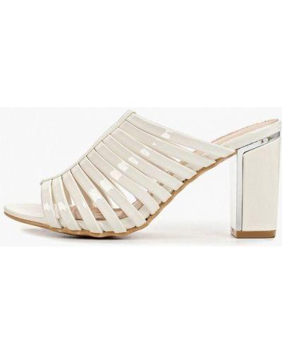 Сабо белые на каблуке Style Shoes