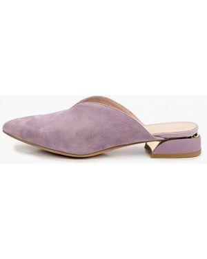 Сабо замшевые фиолетовый Covani