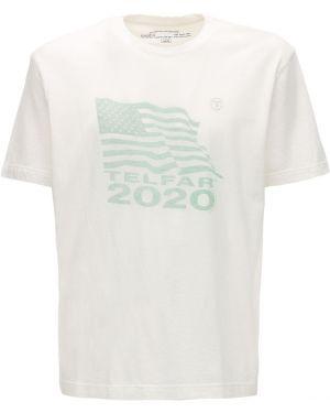 Biały t-shirt bawełniany Telfar