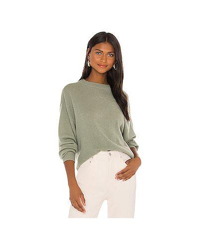 Зеленый кашемировый свитер крупной вязки Alice + Olivia