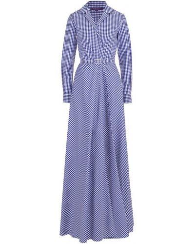 Платье с поясом платье-рубашка в клетку Ralph Lauren