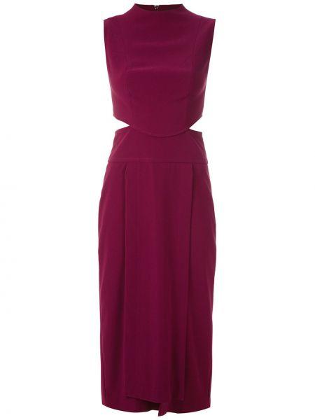 Платье миди со вставками с вырезом Framed
