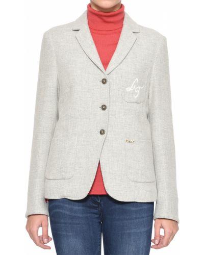 Пиджак шерстяной серый Luis Trenker