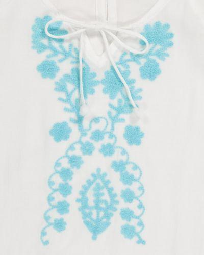 Biały kaftan z haftem na plażę Melissa Odabash Kids