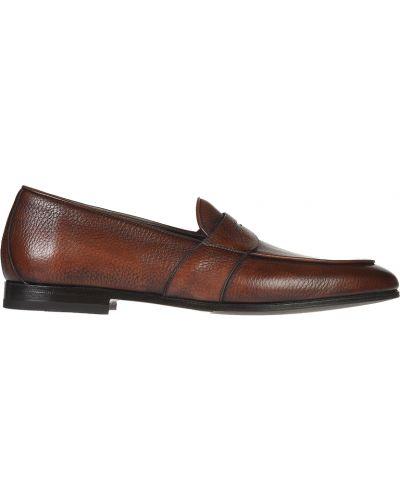 Кожаные лоферы - коричневые Franceschetti