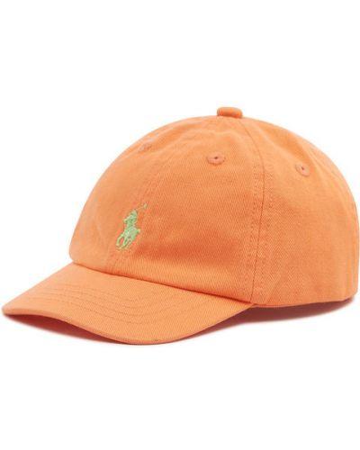 Pomarańczowa czapka z daszkiem Polo Ralph Lauren