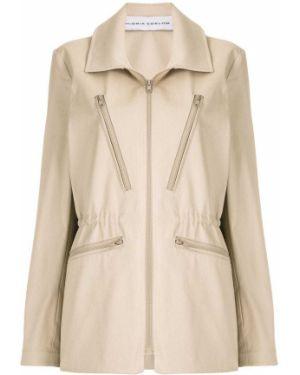Пальто классическое с поясом с воротником Gloria Coelho