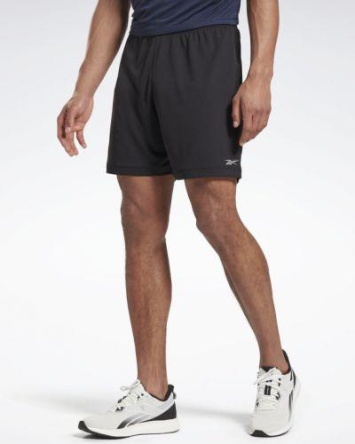 Черные шорты для бега с поясом Reebok