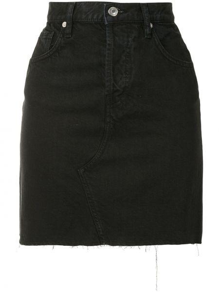 Синяя классическая с завышенной талией джинсовая юбка с карманами Iro