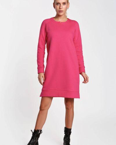 Платье с рукавом реглан - малиновое Nenka