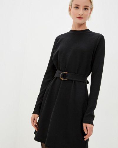 Черное вязаное платье Befree