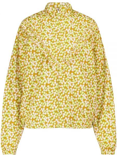 Теплая желтая спортивная куртка Tory Sport