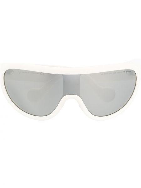 Прямые муслиновые спортивные солнцезащитные очки хаки Moncler Eyewear