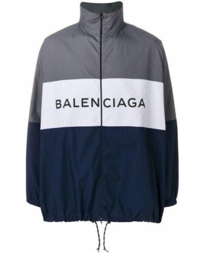 Рубашка с длинным рукавом хлопковая на молнии Balenciaga