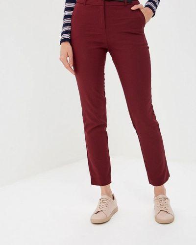 Классические брюки бордовый красный Befree