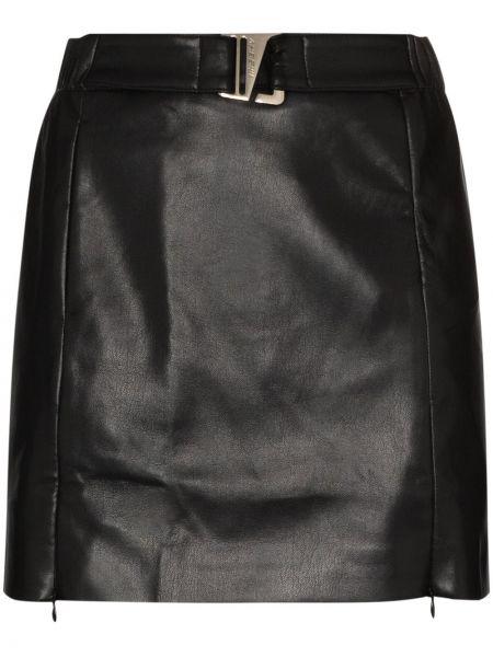 Skórzany czarny spódnica mini Misbhv