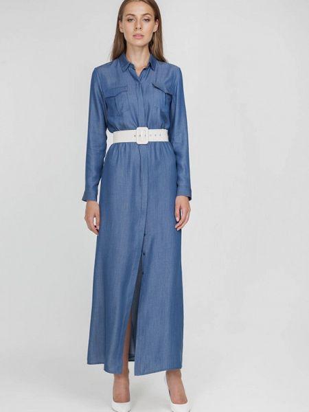 Платье платье-рубашка синее Raimaxx