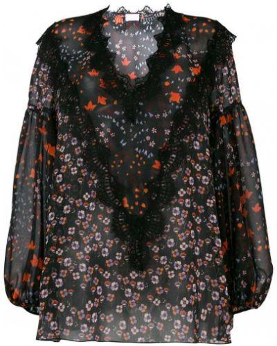 Блузка с длинным рукавом с цветочным принтом прямая Giamba