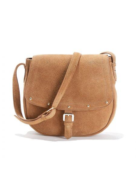 Кожаная сумка сумка-мешок с ручками La Redoute Collections