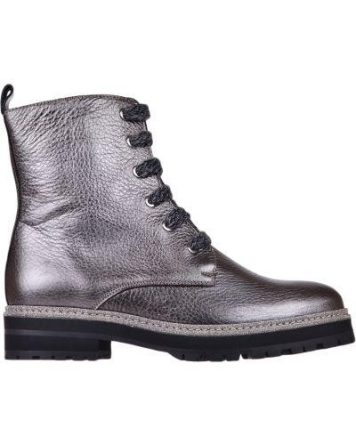 Ботинки на каблуке осенние кожаные Pertini