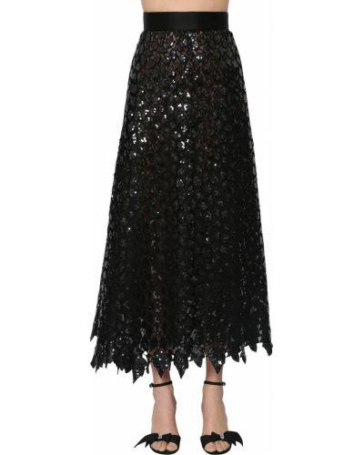 Юбка с пайетками - черная Marc Jacobs