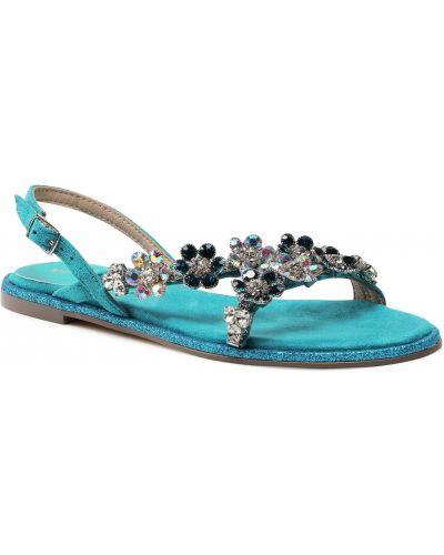 Niebieskie sandały casual Menbur