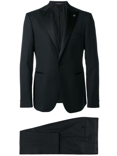 Костюмный шерстяной синий костюм Tagliatore