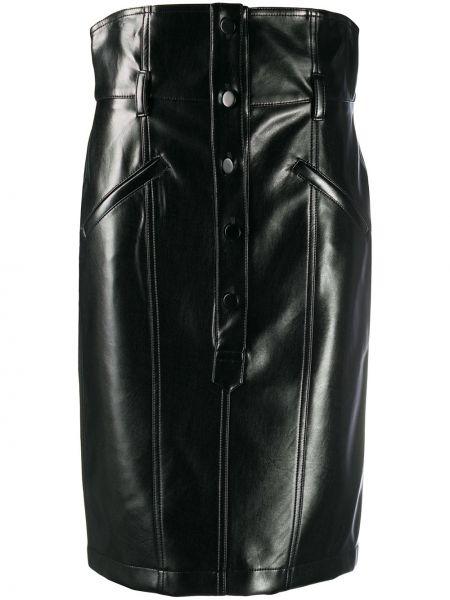 Кожаная юбка - черная Philosophy Di Lorenzo Serafini