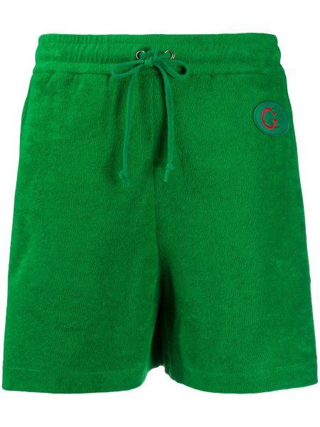 Sport szorty z kieszeniami zielony Gucci